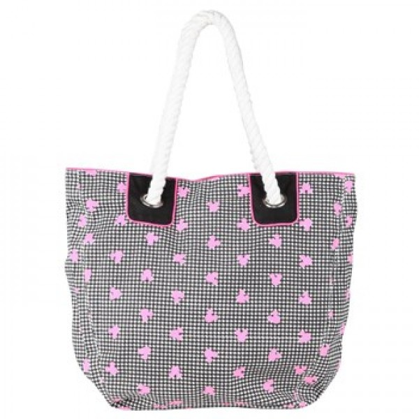 Be For Bag Gail Fluoro Pink & White Style Tote (GAIL)
