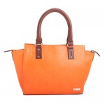 Beau Design Stylish Orange Color Imported PU Leather Handbag With Adjustable Strap For Women's/Ladies/Girls
