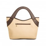 Beau Design Stylish Cream Color Imported PU Leather Handbag With Double Handle For Women's/Ladies/Girls