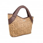 Beau Design Stylish Leoperd Print Imported PU Leather Handbag With Double Handle For Women's/Ladies/Girls