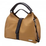 Beau Design Stylish  Beige Color Imported PU Leather Handbag With Double Handle For Women's/Ladies/Girls