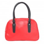 Beau Design Stylish  Red Color Imported PU Leather Casual Handbag With Double Handle For Women's/Ladies/Girls