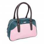 Beau Design Stylish  Green Color Imported PU Leather Casual Handbag With Double Handle For Women's/Ladies/Girls