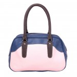 Beau Design Stylish  Blue Color Imported PU Leather Casual Handbag With Double Handle For Women's/Ladies/Girls