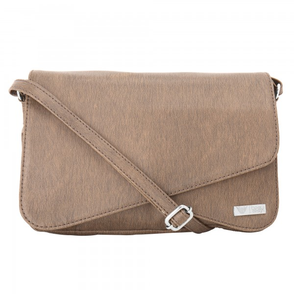 Beau Design Stylish Brown Color Imported PU Leather sling bag For Women's/Ladies/Girls