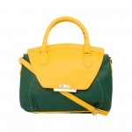 Beau Design Stylish  Green & Yellow Color Imported PU Leather Slingbag With Adjustable Strap For Women's/Ladies/Girls