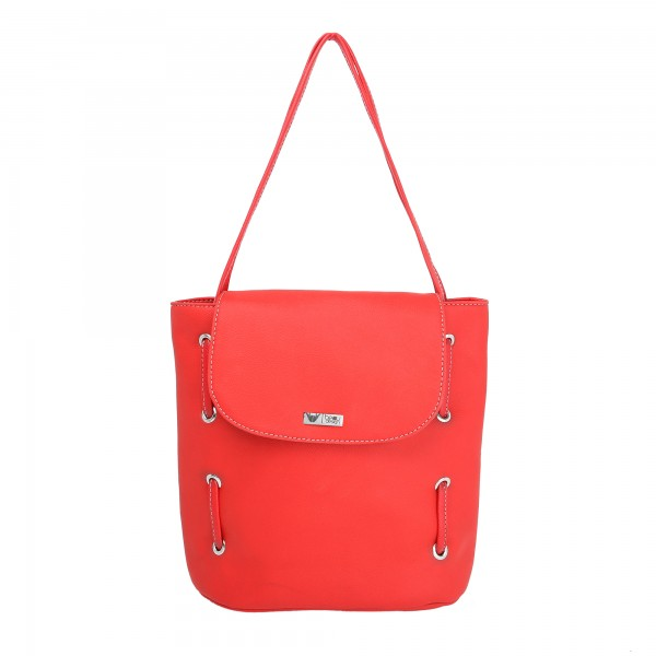 Beau Design Stylish  Red Color Imported PU Leather  Tote Handbag With For Women's/Ladies/Girls