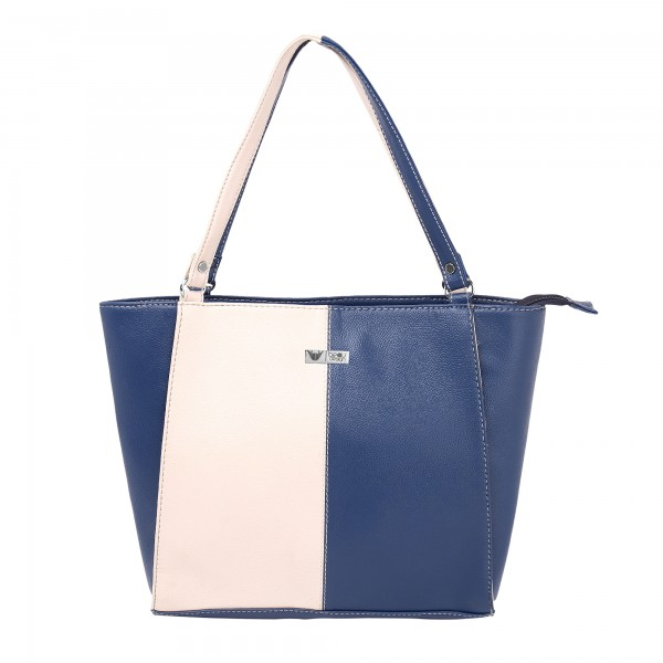 Beau Design Stylish  Blue Color Imported PU Leather Casual Tote Handbag With For Women's/Ladies/Girls