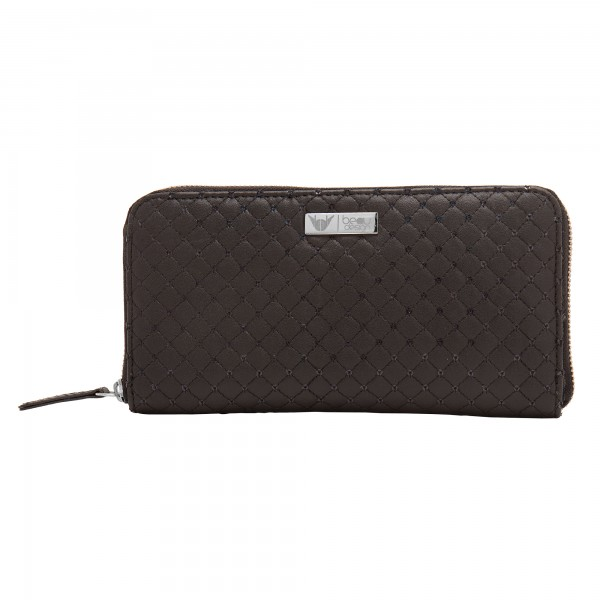 Beau Design Black Color Quilted PU Stylish Clutch For Women's/Ladies/Girls