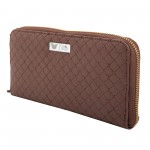 Beau Design Brown Color Quilted PU Stylish Clutch For Women's/Ladies/Girls