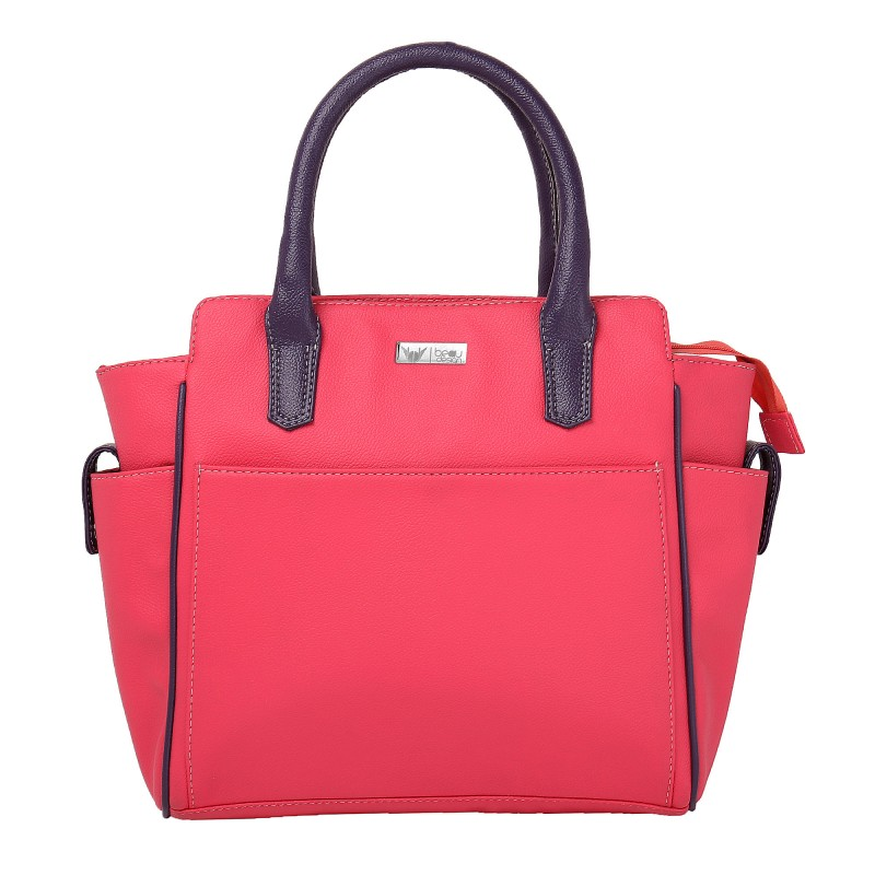 745823a574 Beau Design Stylish Pink Color Imported PU Leather Casual Handbag ...