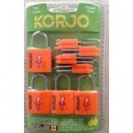 KORJO 4 pack TSA Keyed Locks (TSALL4)