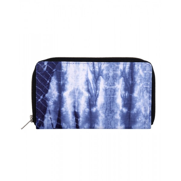 Rajrang Blue Cotton Casual Abstract Tie Dye Clutch Bag
