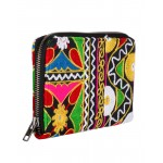 Rajrang Black Cotton Casual Floral Embroidered Clutch Bag