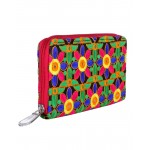 Rajrang Green Cotton Casual Floral Embroidered Clutch Bag