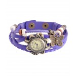 Vintage Style Purple Casual Watch For Women