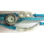 Bird Wings Bracelet Watch Blue