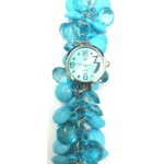 Blue Fancy Beaded Watches for Girls & Womens