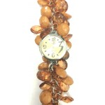 Brown Fancy Beaded Watches for Girls & Womens