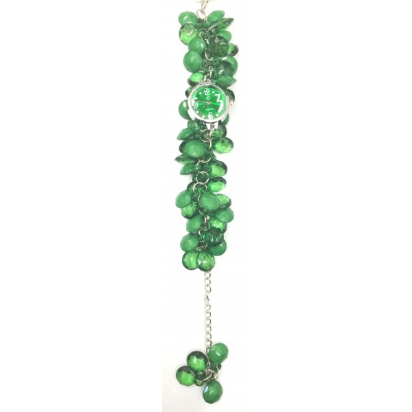 Green Fancy Beaded Watches for Girls & Womens