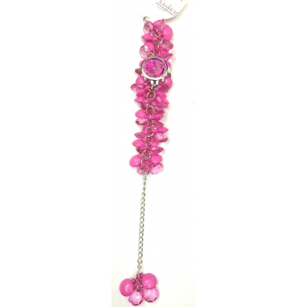 Pink Fancy Beaded Watches for Girls & Womens