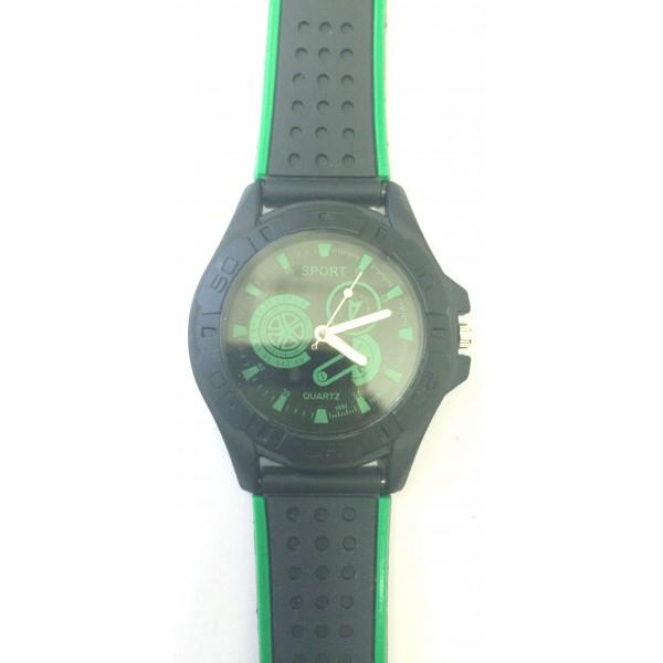 Green Nylon Strap Analog Men's Sports Quartz Watch