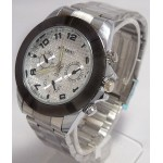 Stylish Stainless Steel Silver Watch For Mens