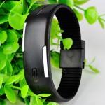 Black Plastic Digital Rectangular Bracelet BundLED Watch For Boys,Men,Girl, Women