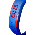Dark Blue Plastic Digital Rectangular Bracelet Band LED Watch For Boys,Men,Girl, Women