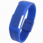 Dark Blue Plastic Digital Rectangular Bracelet Band LED Watch For Boys,Men,Girl, Women