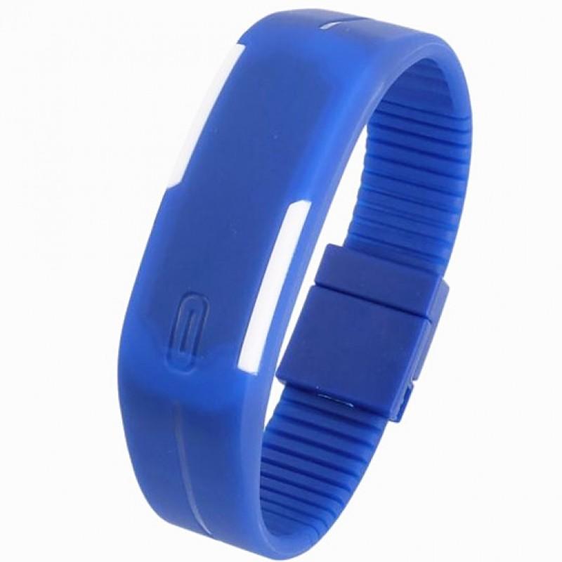 3206ef3b5 Dark Blue Plastic Digital Rectangular Bracelet Band LED Watch For  Boys,Men,Girl, Women