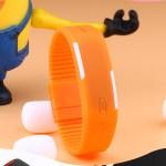 Orange Plastic Digital Rectangular Bracelet BundLED Watch For Boys,Men,Girl, Women