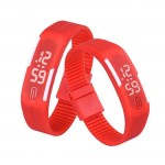 Red Plastic Digital Rectangular Bracelet Band LED Watch For Boys ,Men,Girl, Women