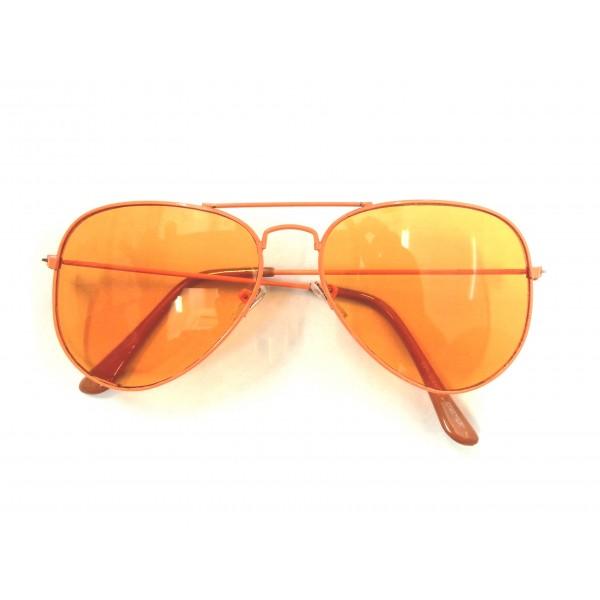 Orange Frame Orange Lens Aviator Sunglasses