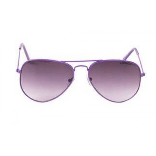 Purple Frame Gery Gradient Lens Aviator Sunglasses