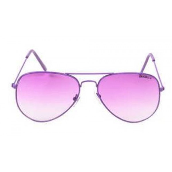 Purple Frame Purple Gradient Lens Aviator Sunglasses