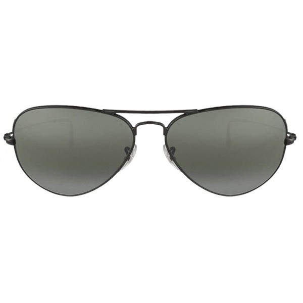 Black Frame Black Glass Aviator Mens Sunglasses