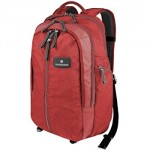 "Victorinox 17""/43Cm Vertical Zip Backpack-Red/Blk (32388203)"