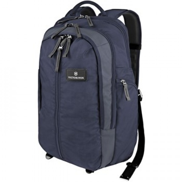 "Victorinox 17""/43Cm Vertical Zip Backpack-Navy/Gray (32388209)"