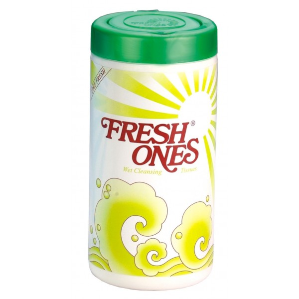 FreshOnes Lemon Fresh Wipes Container Pack - 70N (Pack of 2)