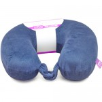U Shaped Memory Foam Travel Neck Pillow- Dark Blue