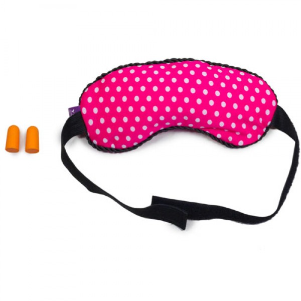 VIAGGI Microbeads Eye Mask with Ear Plugs