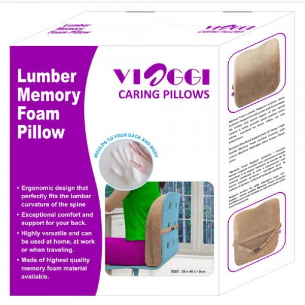 Lumbar Support Memory Foam Back Pain Pillow