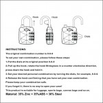 VIAGGI 3 Dial Travel Sentry Approved Security Luggage Resettable Combination Number Padlock - Yellow