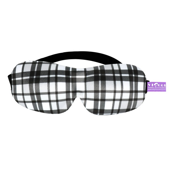 VIAGGI 3D Printed Eye Mask - Black