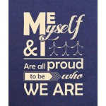 Clean Planet ME, MYSELF AND I  (blue with cream print)