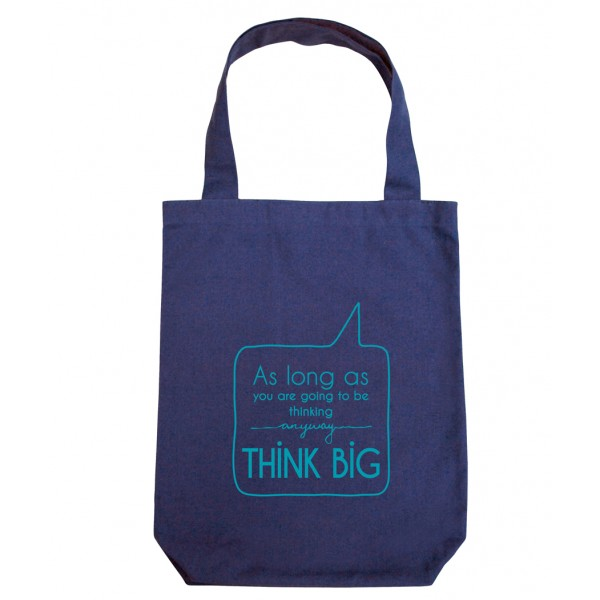 Clean Planet Think Big  (blue with blue print)